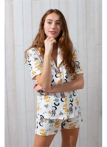Hays Pijama Takım Beyaz